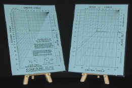 The Compound Miter Chart is for determining the miter and blade tilt needed for any compound miter angle that has a corner angle between 60-300 degrees and a wall/crown slope angle between 0-90 degrees.